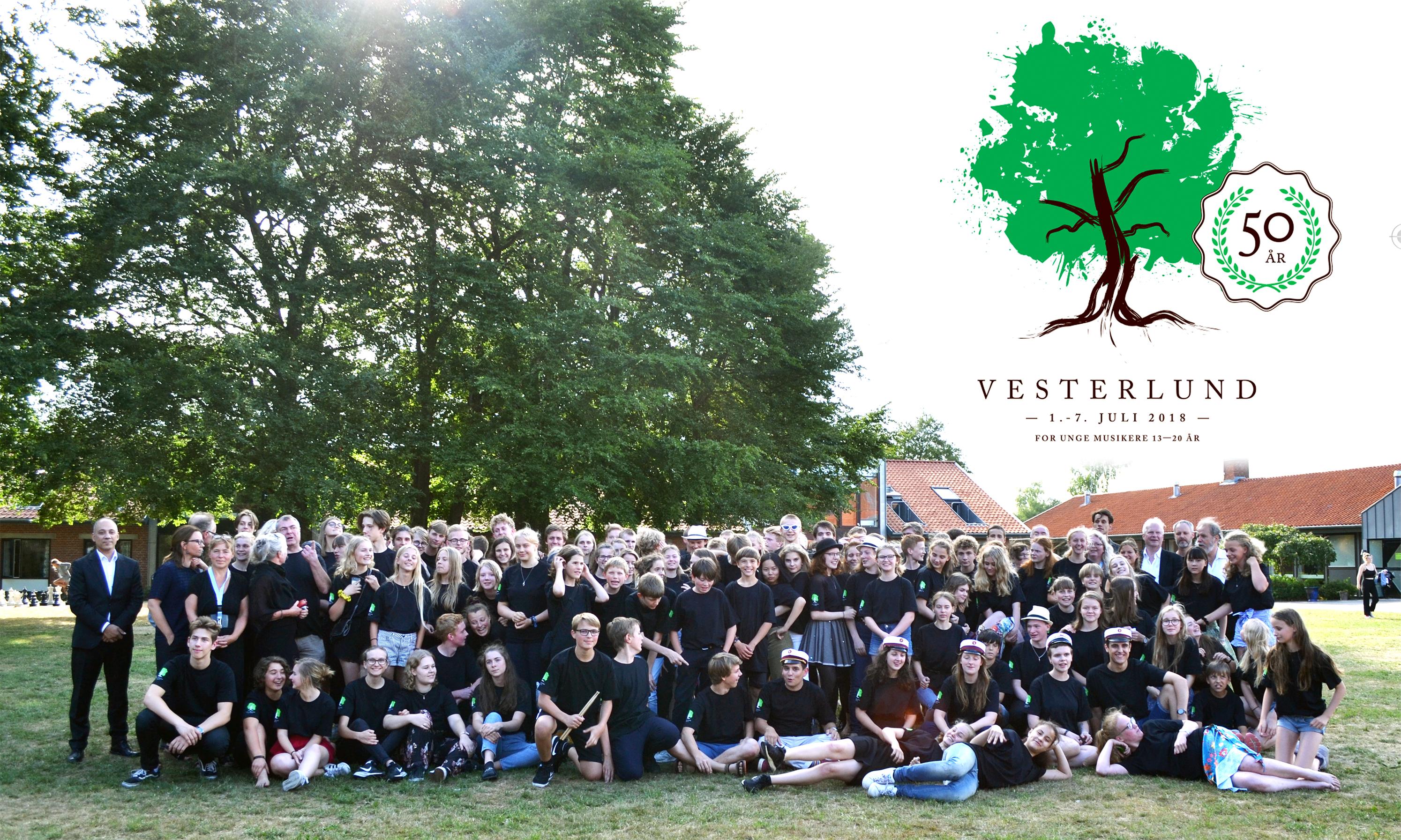 Gruppebillede 2018, Vesterlund Musikkursus